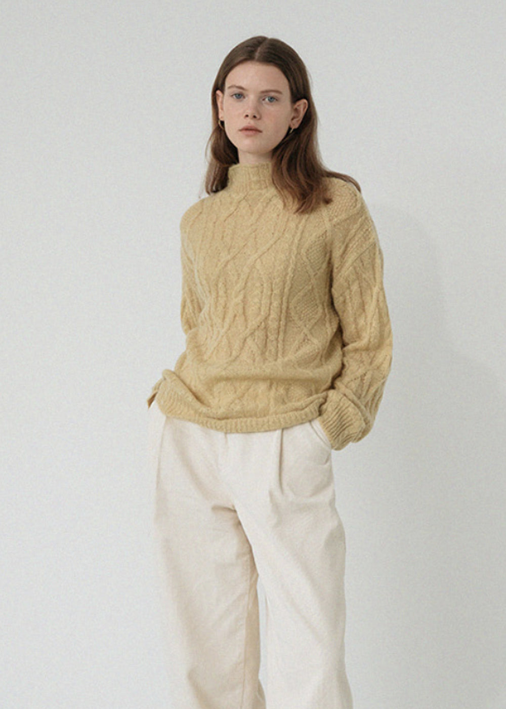 MOHAIR TWIST KNIT YELLOW