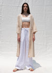 NATURAL LINEN ROBE BEIGE