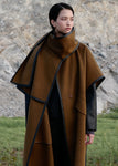HANDMADE SCARF CAPE COAT