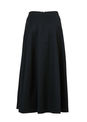 SIDE SLIT PLEATS SKIRT