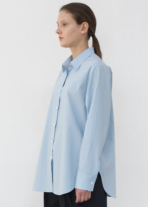 SIDE SLIT SHIRT BLUE