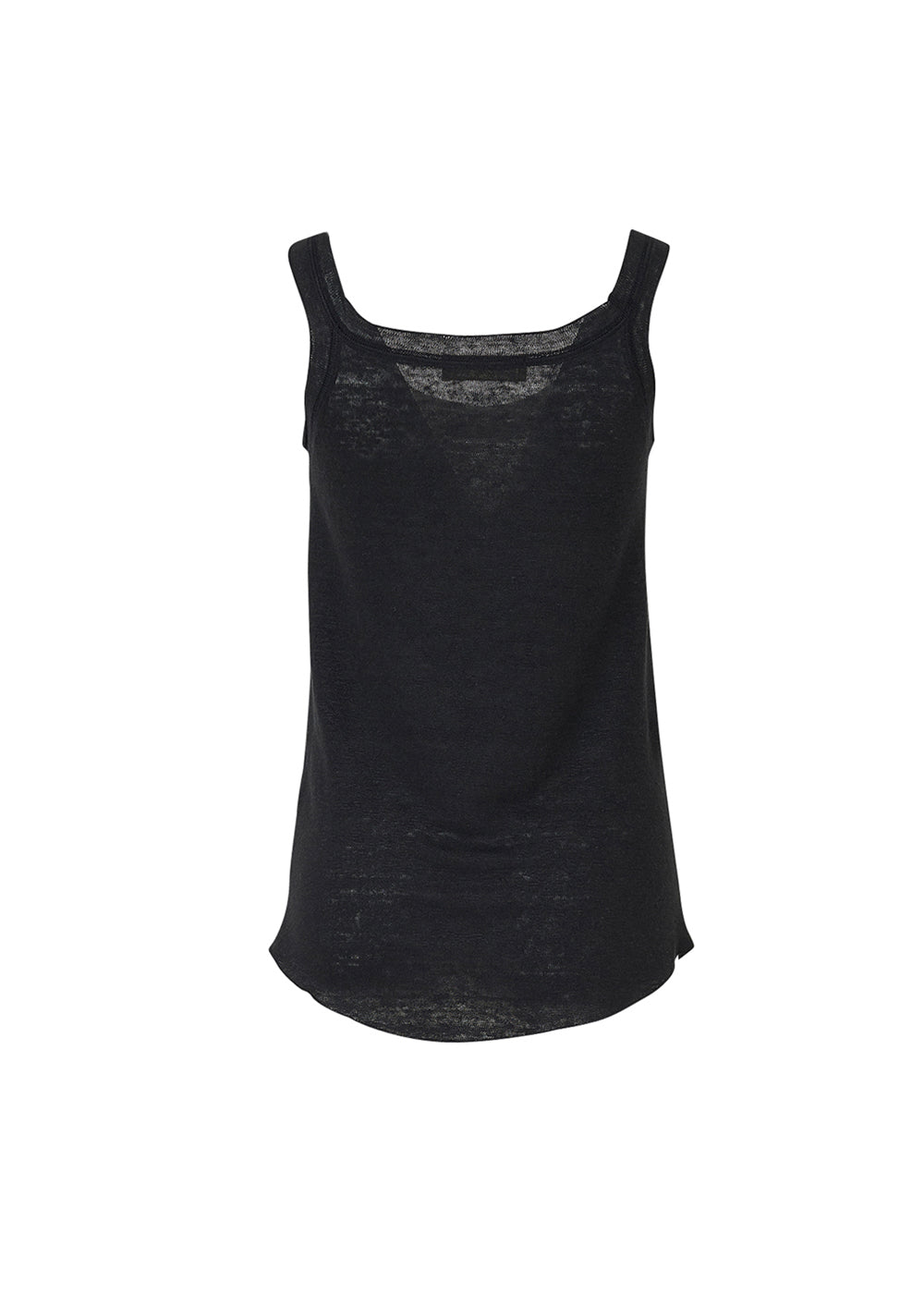 LINEN SLEEVELESS T-SHIRTS BLACK