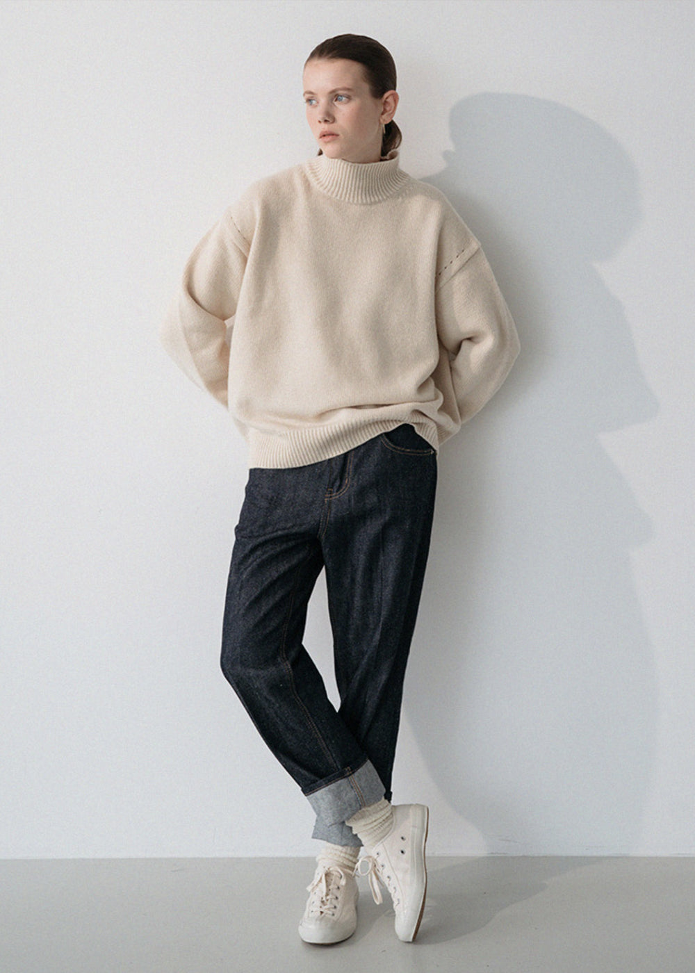 LE CASHMERE TURTLENECK KNIT IVORY