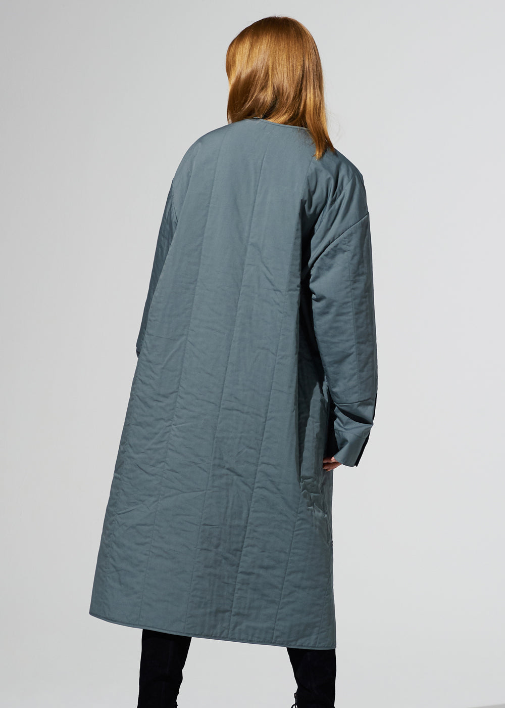 QUILTED LONG BLOUSON KHAKIBLUE