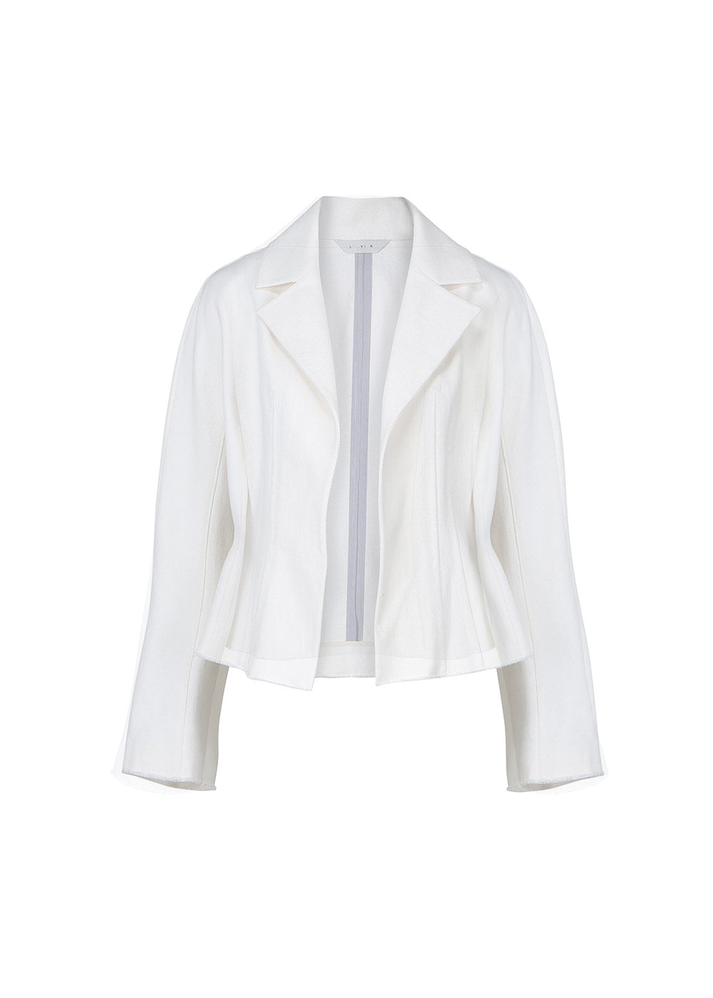 SLIM-FIT SHORT JACKET WHITE