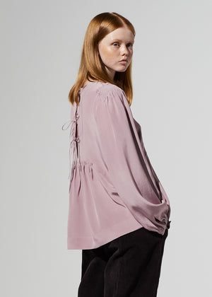 SHIRRING STRING BLOUSE VIOLET