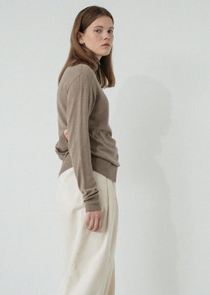 LE MODERN WOOL TURTLENECK KNIT BEIGE