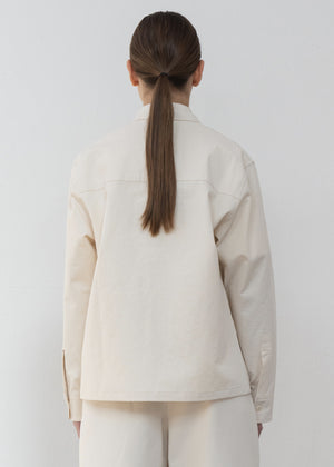 COTTON POCKET JACKET NATURAL