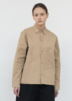 COTTON POCKET JACKET BEIGE