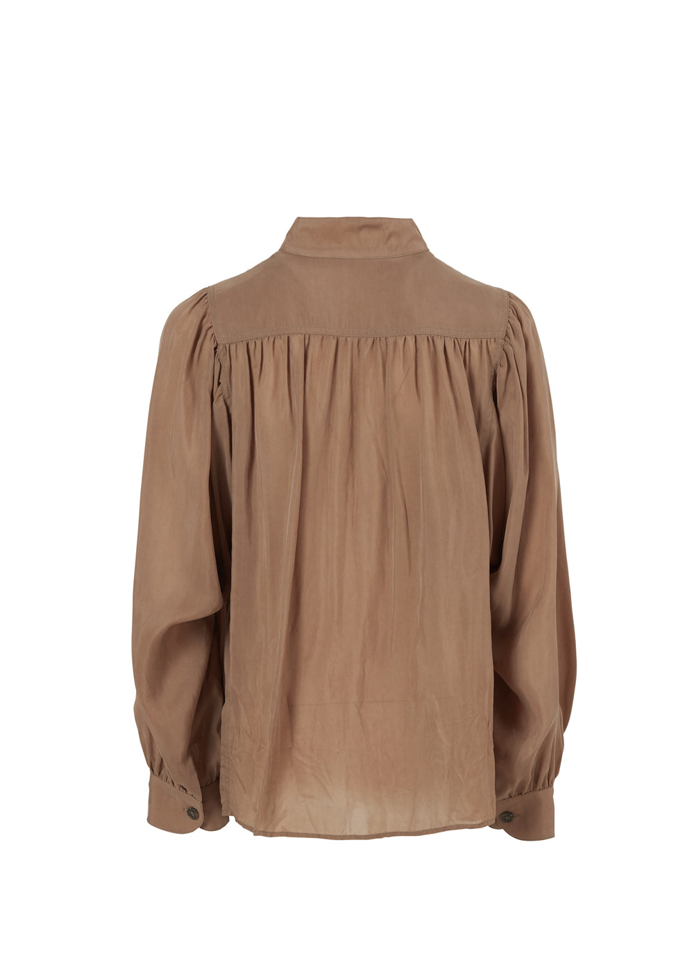 CUPRA SHIRRING BLOUSE OLIVE