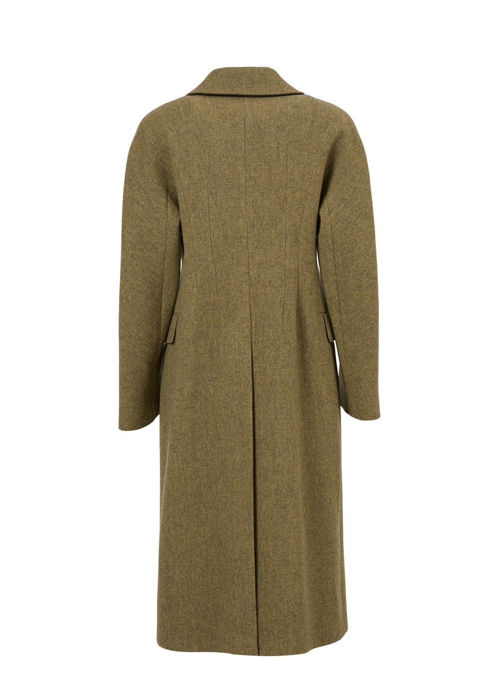 CORSET FIT WOOL COAT OLIVE