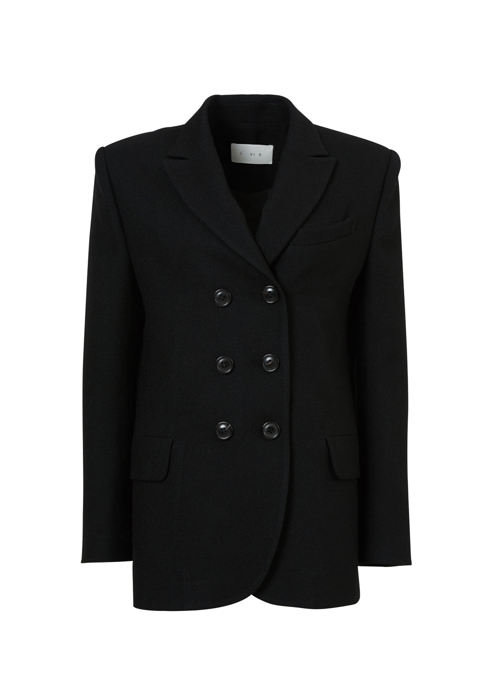 DOUBLE BUTTON JACKET BLACK
