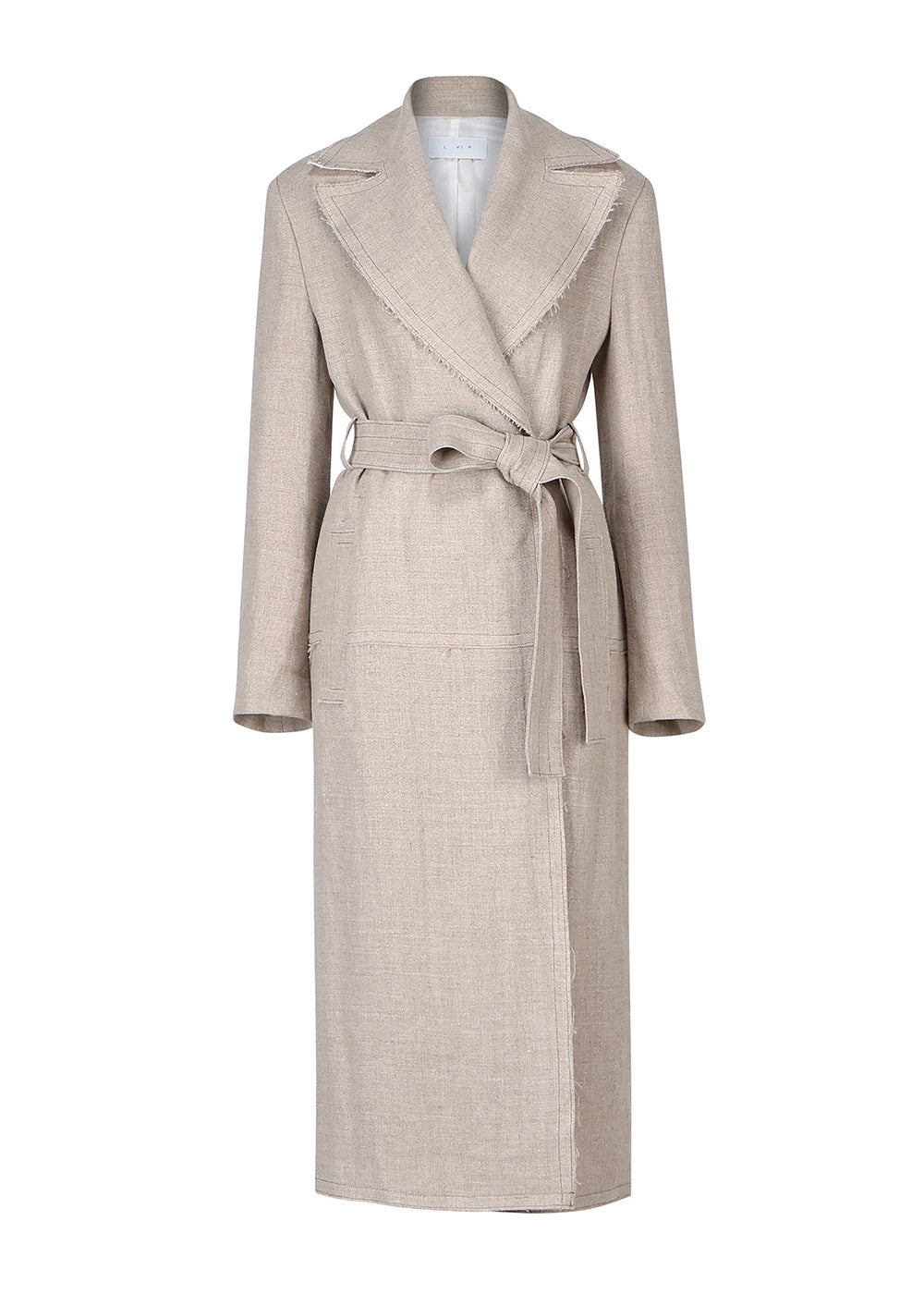 NATURAL CUTTING LONG COAT BEIGE