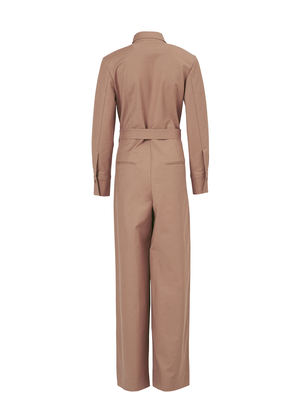 DOUBLE SHIRRING JUMPSUIT BEIGE