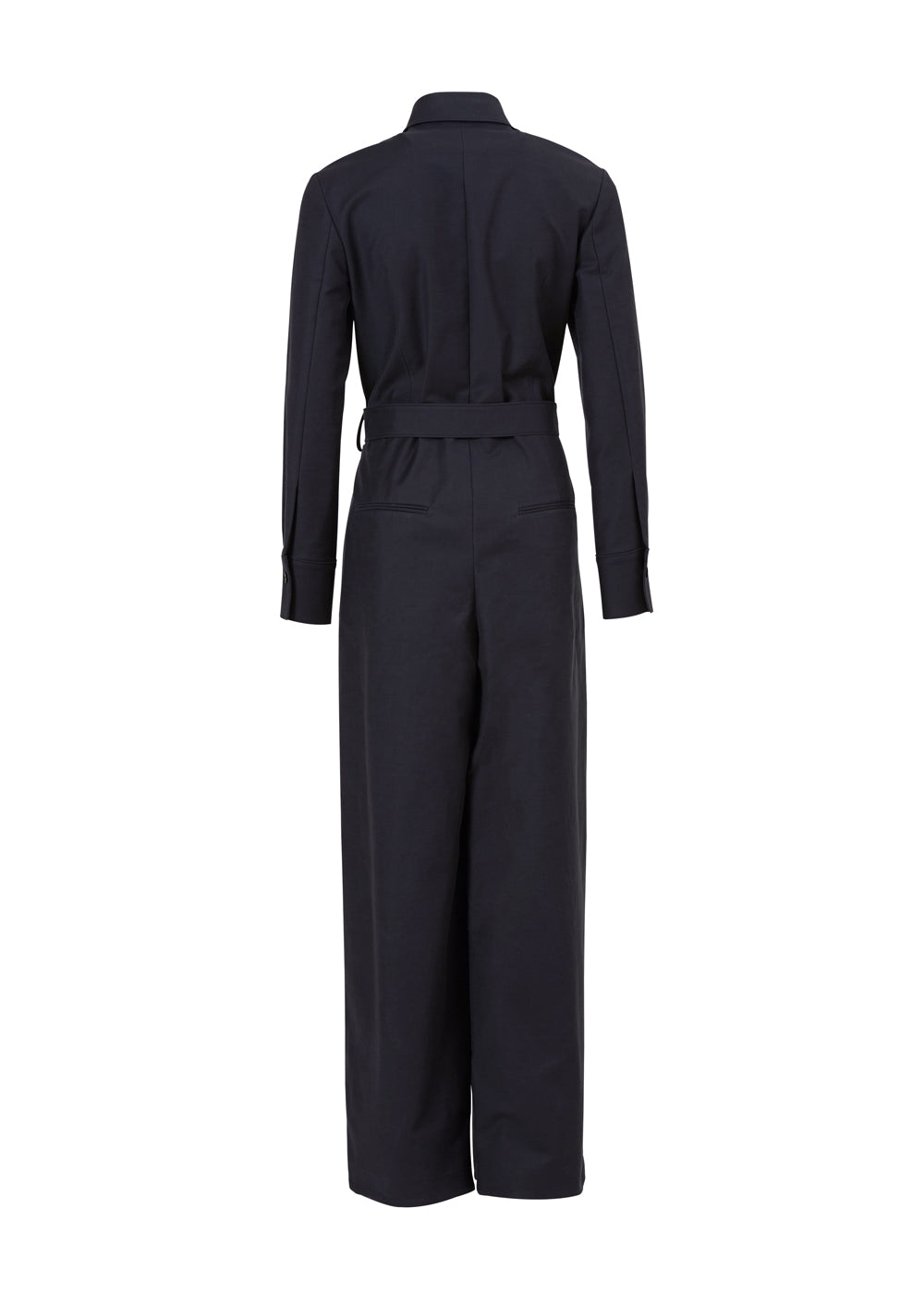 DOUBLE SHIRRING JUMPSUIT CHARCOAL