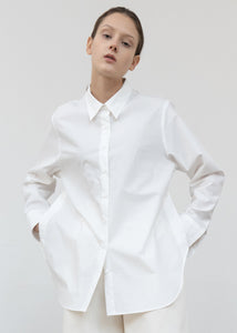 SIDE SLIT SHIRT IVORY