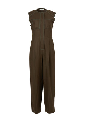 SLEEVELESS TAPING JUMPSUIT