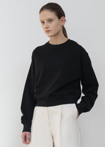 NATURAL SHORT T SHIRT BLACK