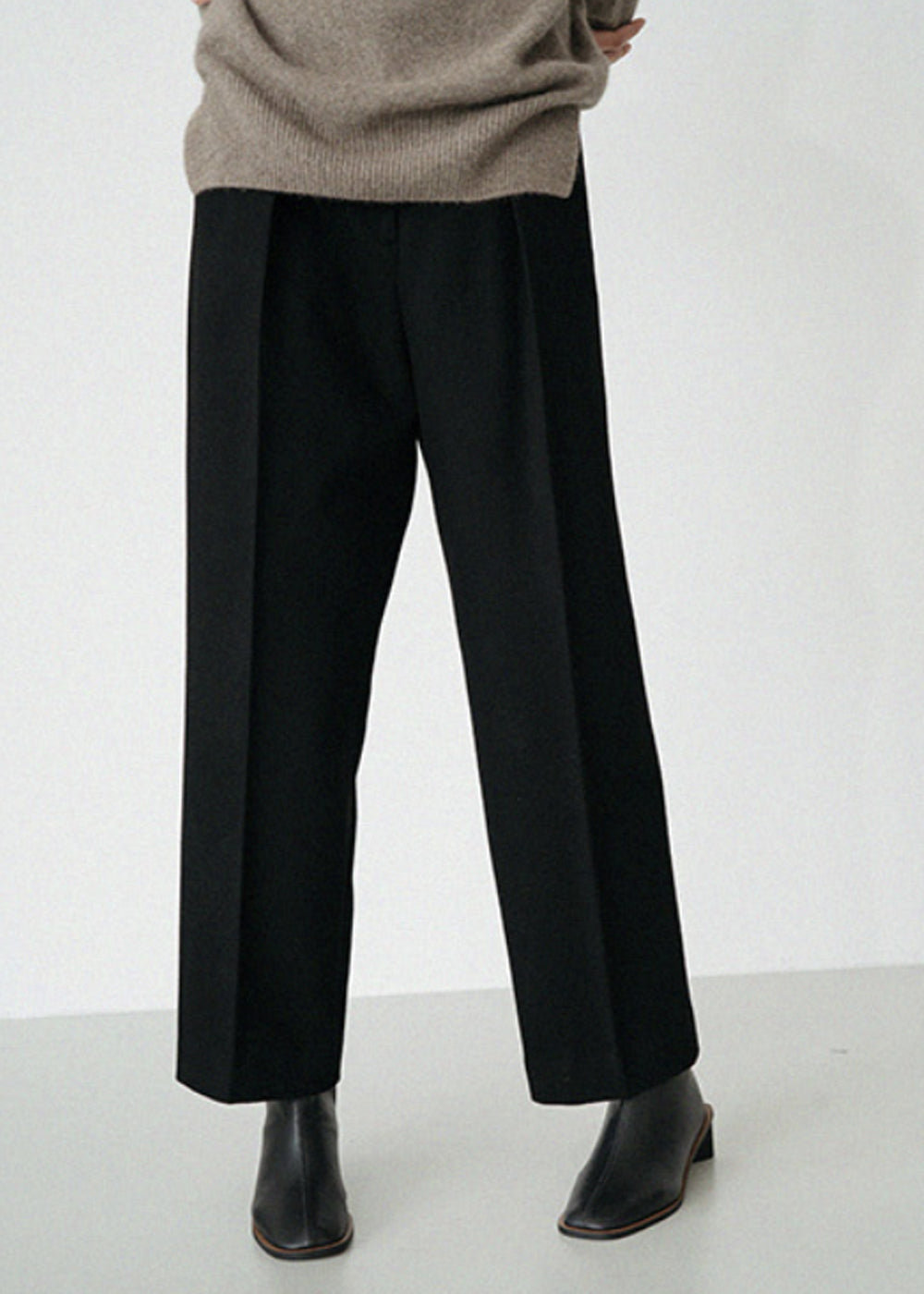 LE WOOL MODERN PANTS BLACK