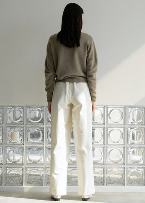 ORGANIC COTTON BANDING PANTS CREAM