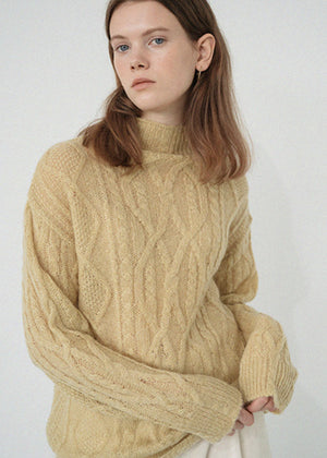 LE MOHAIR TWIST KNIT YELLOW