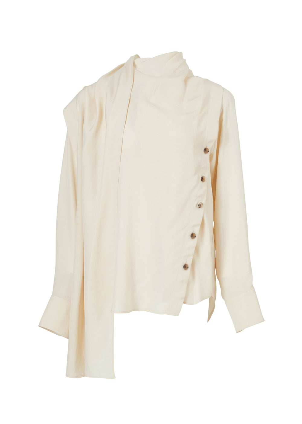 SCARF BLOUSE CREAM