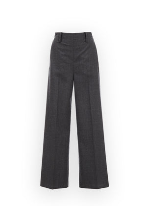 WOOL BANDING PANTS