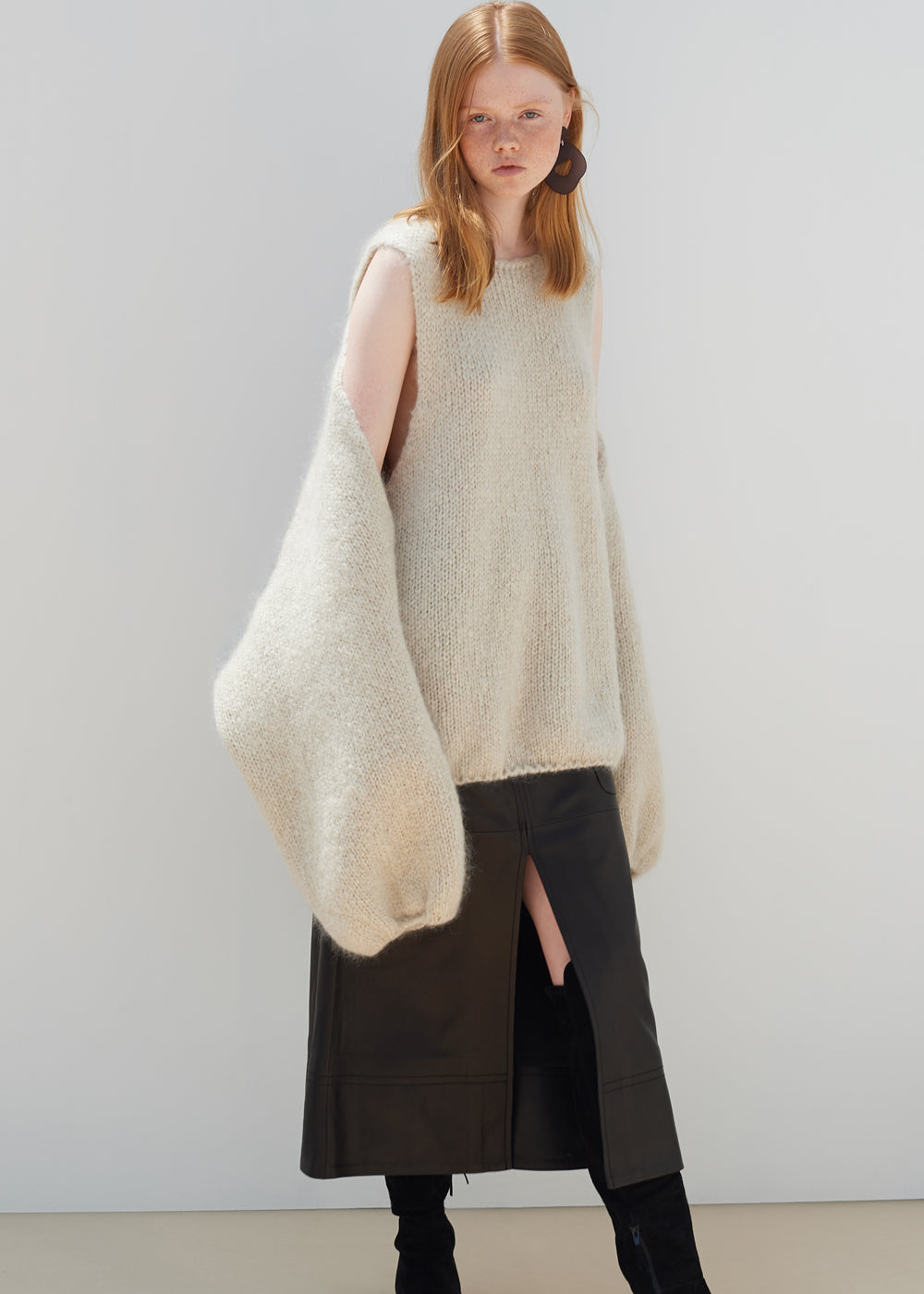 SHEEPSKIN LEATHER SKIRT