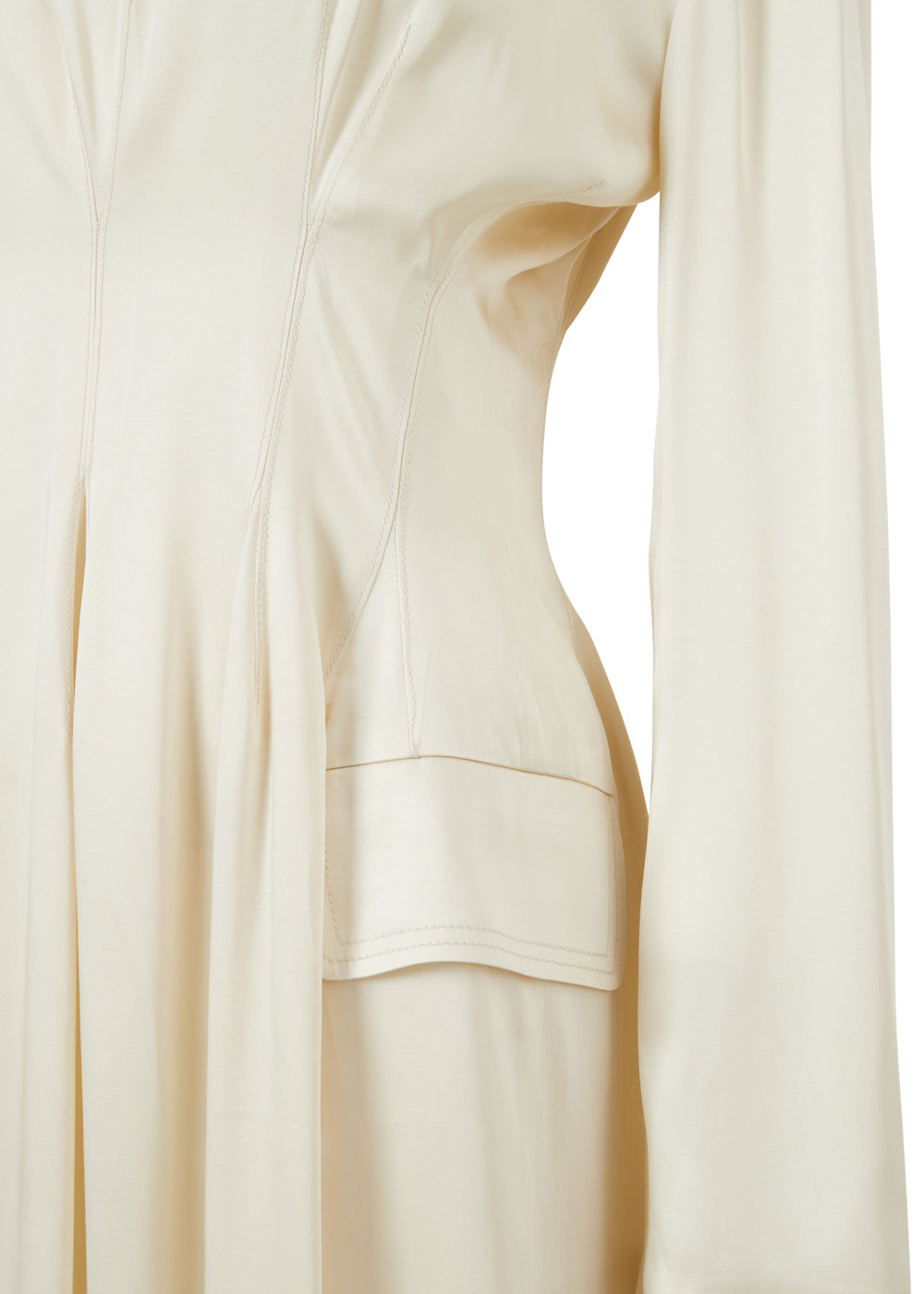 WAIST POINT DRESS CREAM