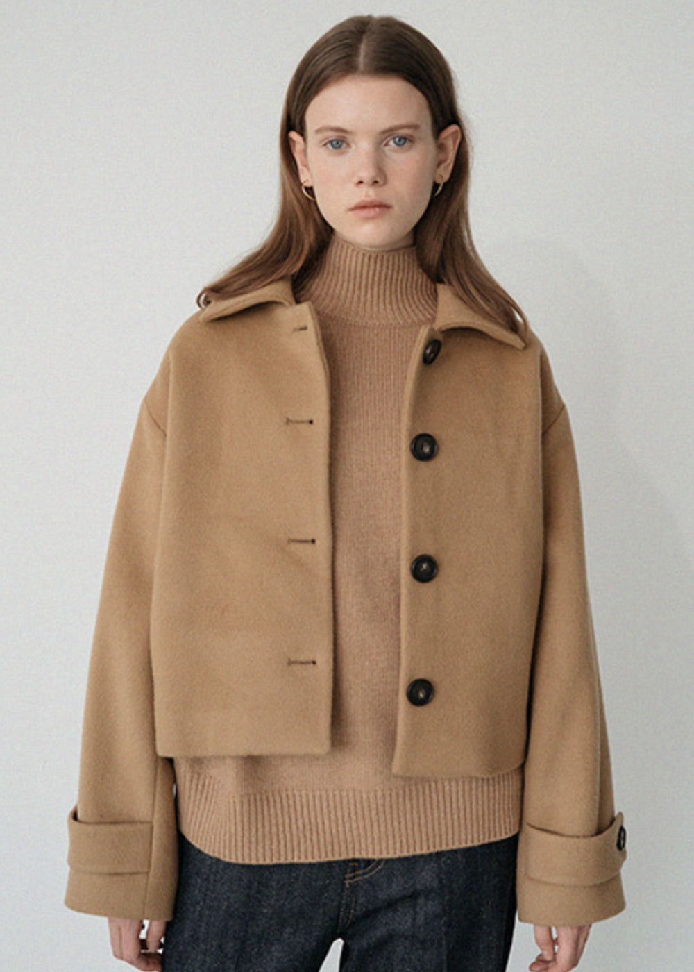 LE WOOL SHORT COAT BEIGE