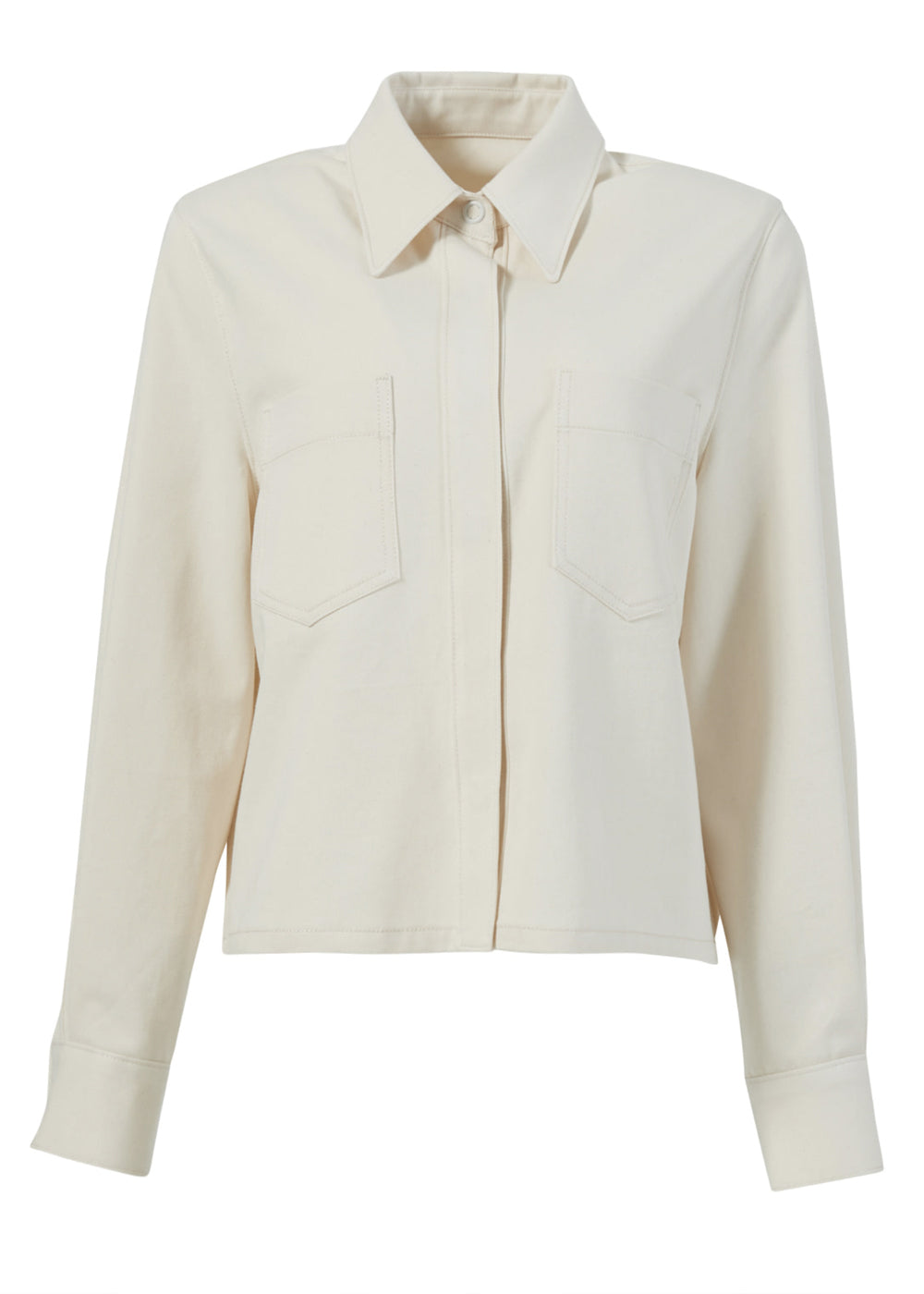 COTTON SHORT JACKET NATURAL