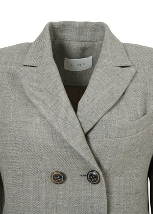 DOUBLE BUTTON JACKET LIGHT GREY