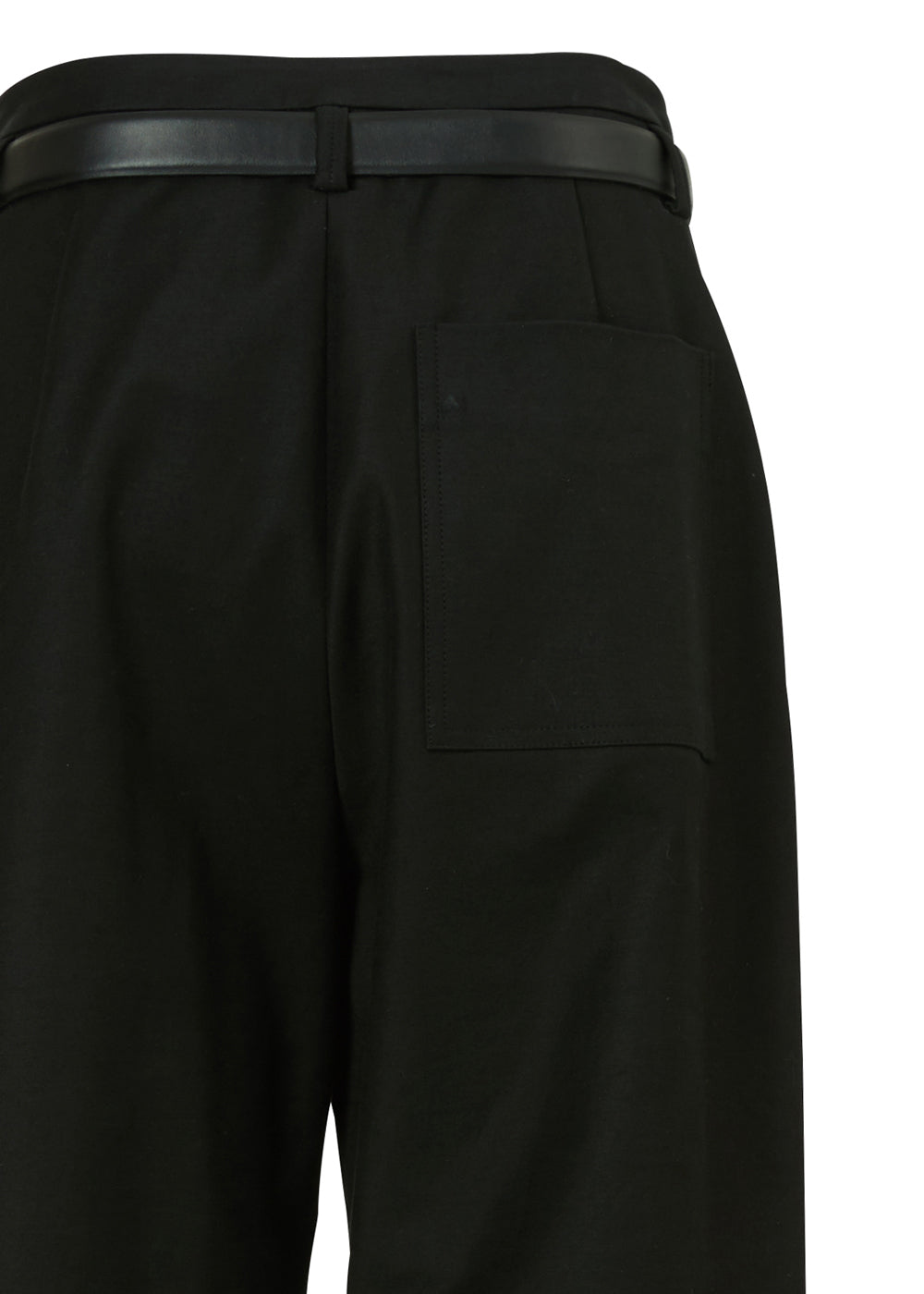 UNDER BELT COTTON PANTS BLACK