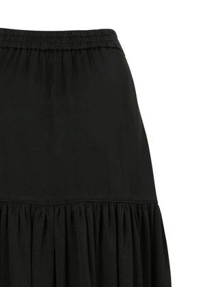 SHIRRING BACK BANDING SKIRT