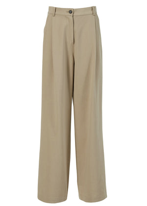 SINGLE WIDE PANTS BEIGE