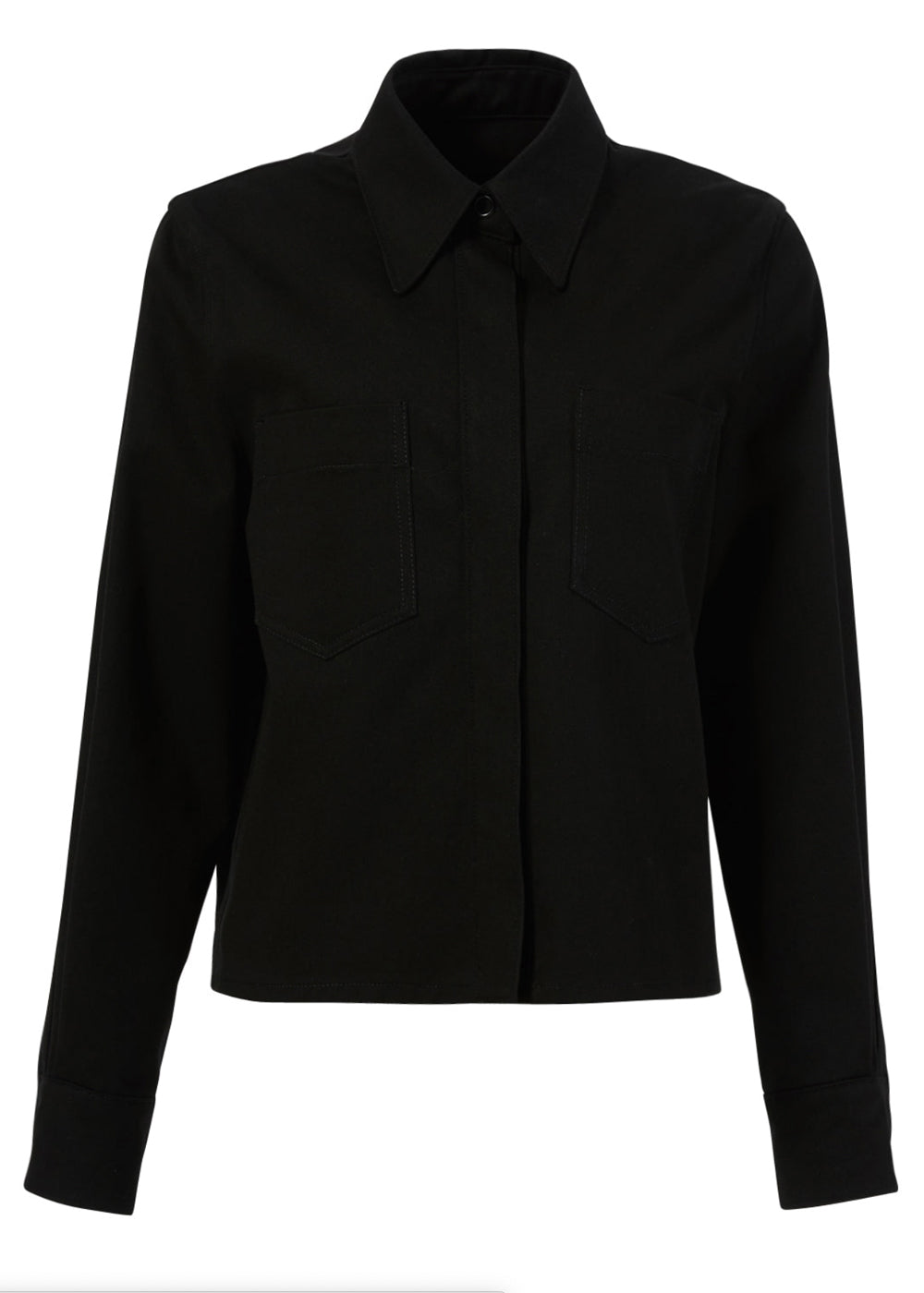 COTTON SHORT JACKET BLACK