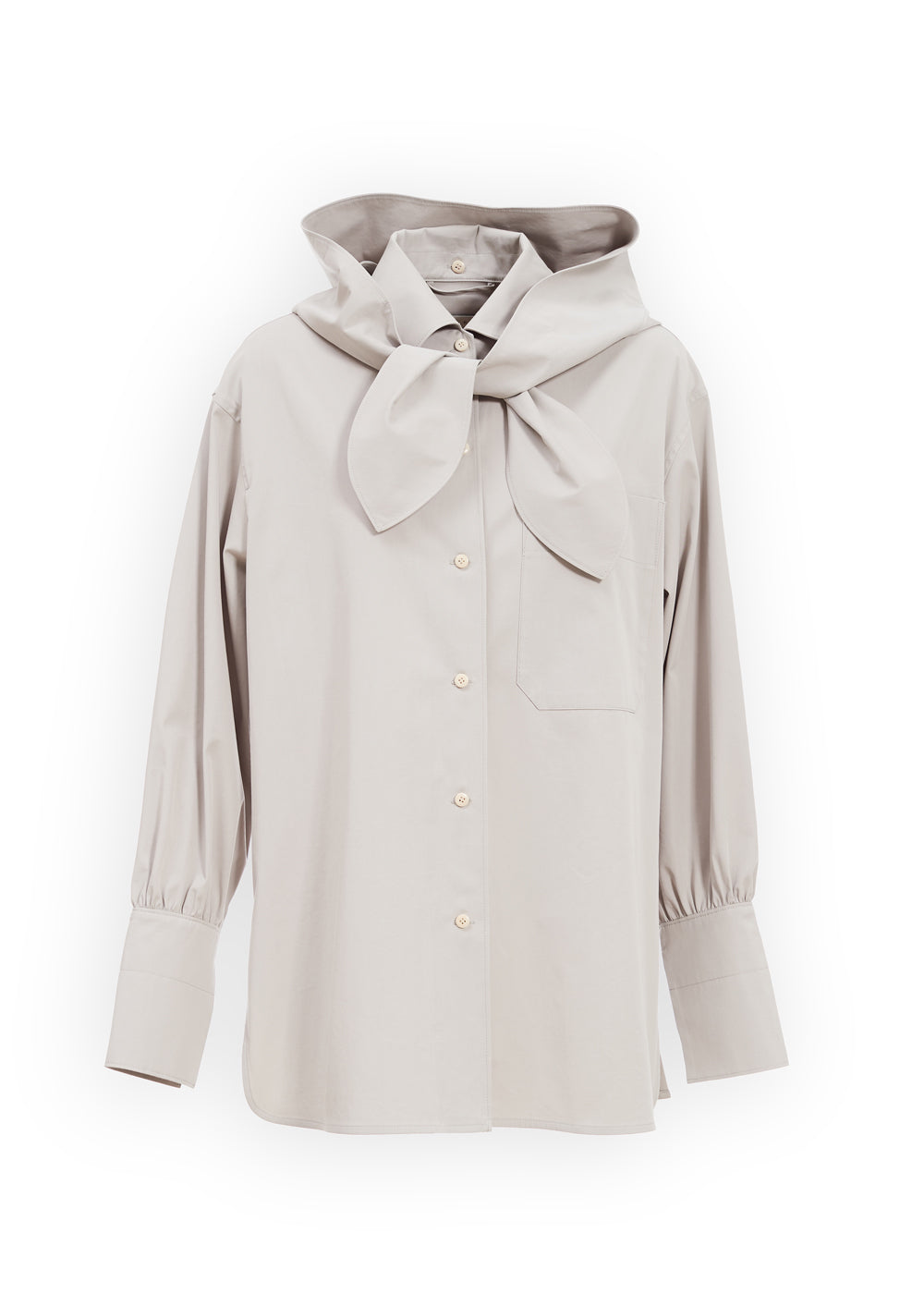 HOODY SHIRT BLOUSE GREY