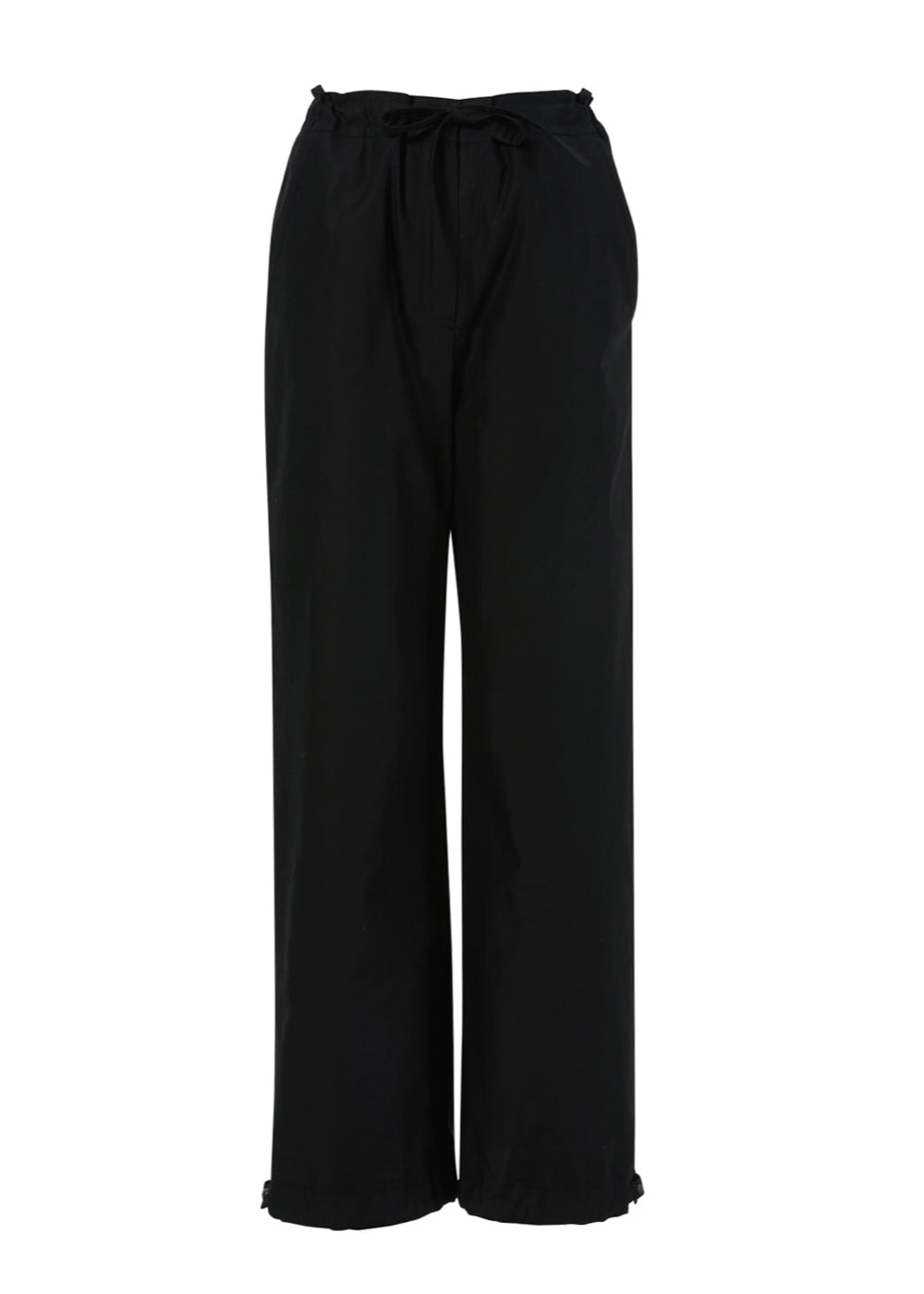 STRING JOGGER PANTS BLACK