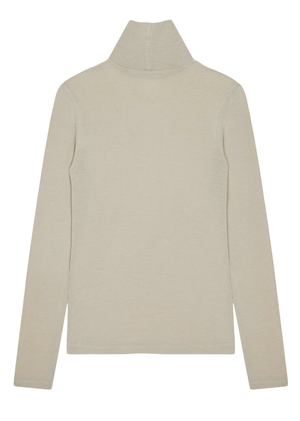 SLIM TURTLENECK T SHIRT BEIGE