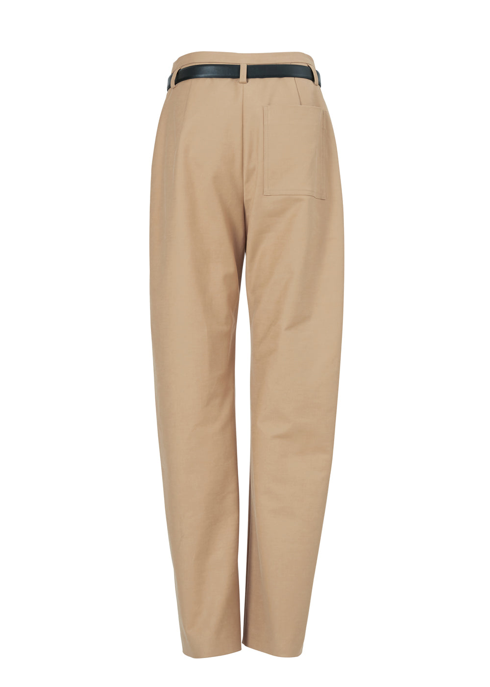 UNDER BELT COTTON PANTS MUSTARD