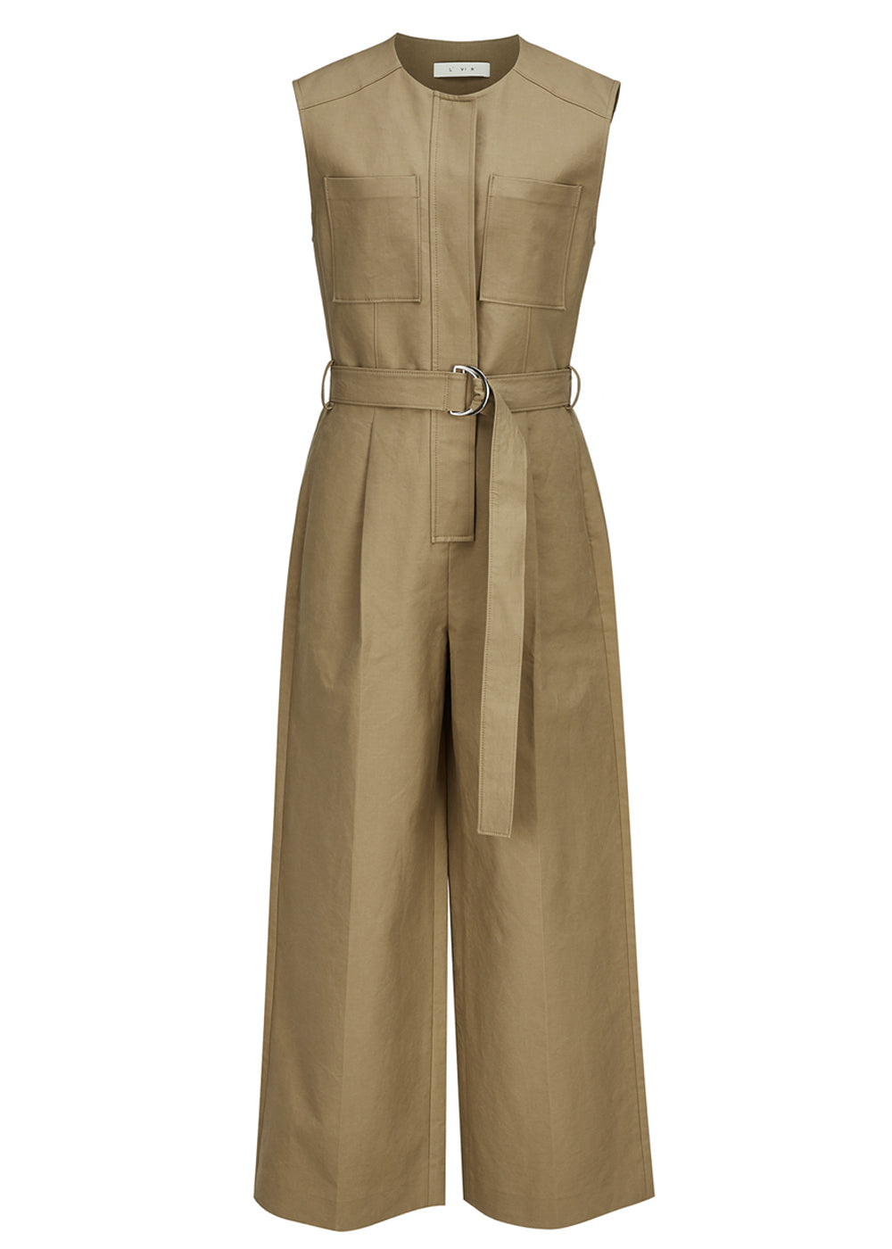 COTTON POCKET JUMPSUIT KHAKI
