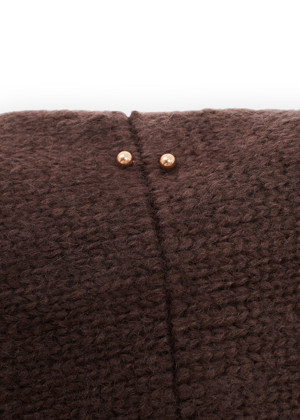 BOLERO KNIT MOHAIR SET BROWN