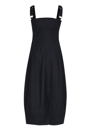 NATURAL CUTTING STITCH DRESS NAVY