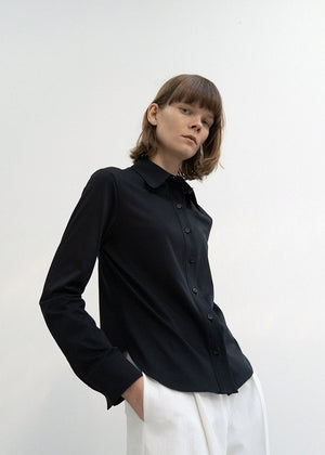 SOFT BASIC SHIRTS BLACK