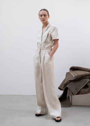 WIDE JUMP SUIT IVORY