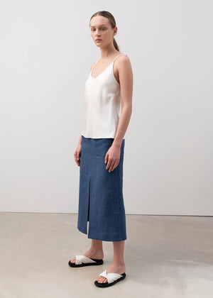 A-Line Slit Skirt Blue