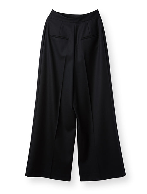 SATIN WIDE PANTS BLACK