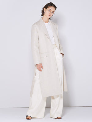SATIN WIDE PANTS WHITE