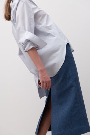 COTTON OVERFIT SHIRT BLUE