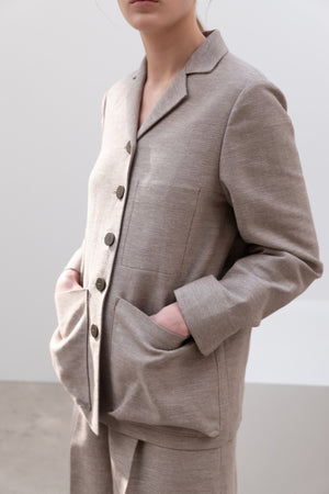 OUT POCKET JACKET BEIGE